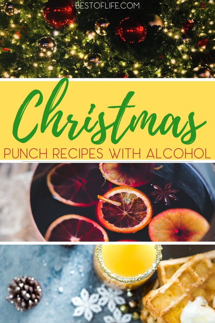 Dive headfirst into some holiday fun with some of the best Christmas morning punch recipes with alcohol and a ton of flavor. Christmas Morning Recipes | Holiday Cocktail Recipes | Christmas Brunch Recipes | Holiday Brunch Recipes | Drinks for Adults | Party Food Recipes #Christmas #holidayrecipes via @thebestoflife