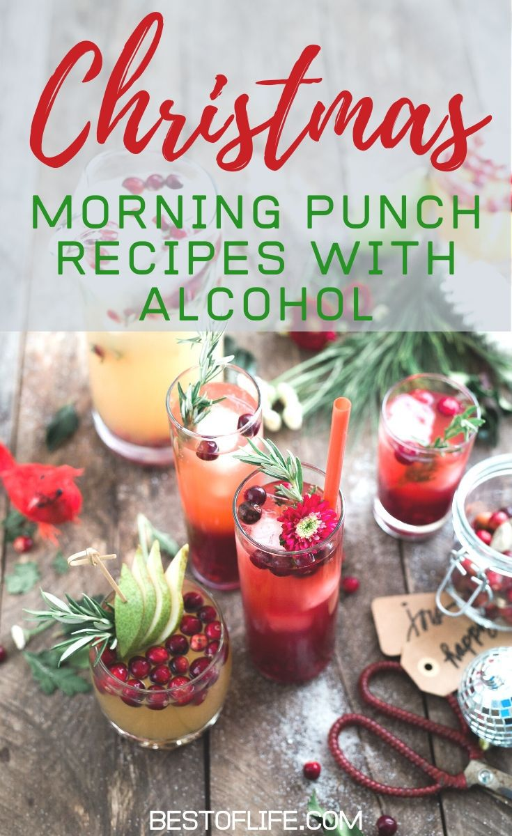 Dive headfirst into some holiday fun with some of the best Christmas morning punch recipes with alcohol and a ton of flavor. Christmas Morning Recipes | Holiday Cocktail Recipes | Christmas Brunch Recipes | Holiday Brunch Recipes | Drinks for Adults | Party Food Recipes #Christmas #holidayrecipes