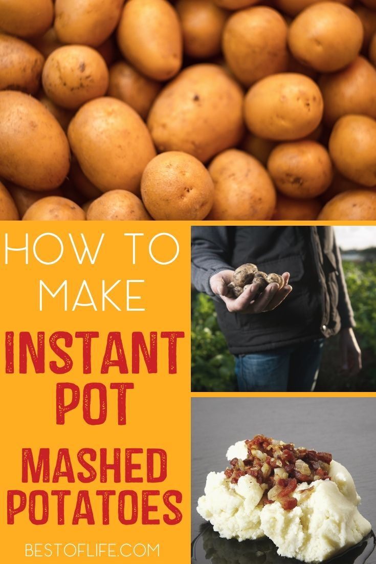 Knowing how to make Instant Pot mashed potatoes will not only save you meal prep and clean up time but will also help you make delicious meals everyone will enjoy! Instant Pot Recipes | Instant Pot Side Dishes | How to Use an Instant Pot | Instant Pot Holiday Recipes #recipe #instantpot via @thebestoflife