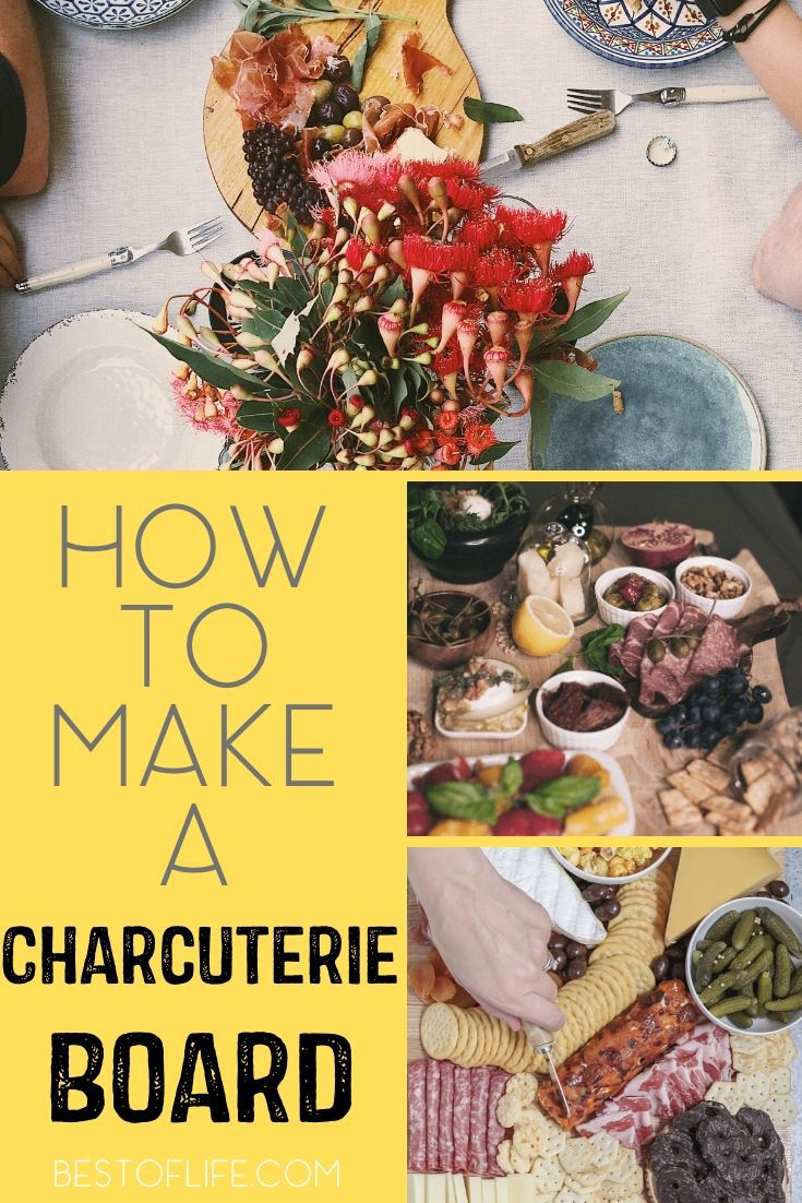 Charcuteries boards are an easy yet elegant party food and once you know how to to make a charcuterie board, you can entertain groups of any size! Wine Party Recipes | Recipes for Wine Parties | Charcuterie Board Tips | Charcuterie Board Items | What to Pair with a Charcuterie #partyfood #appetizers via @thebestoflife