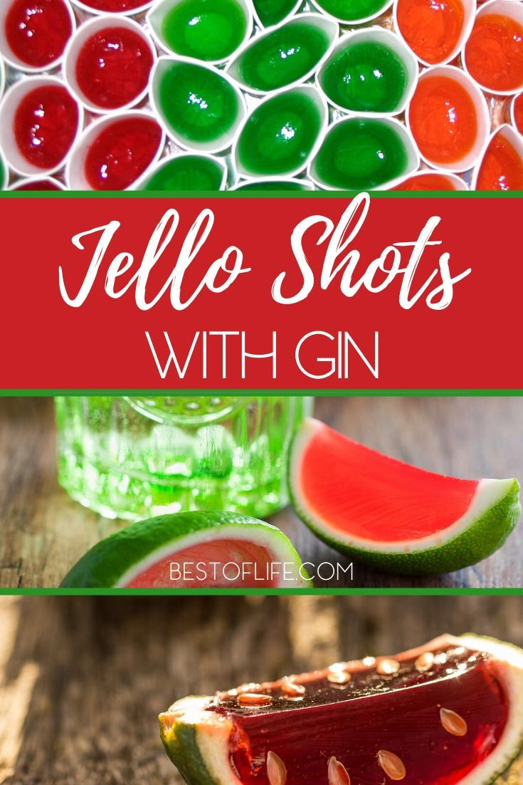 Gin jello shots are just as fun and easy to make as vodka jello shots. You could enjoy them at your next gathering or just make them for fun! Party Recipes | Recipes for Adults Only | Cocktail Recipes | Jello Shot Recipes | Gin Cocktail Recipes | Recipes with Gin #gin #jelloshots via @thebestoflife