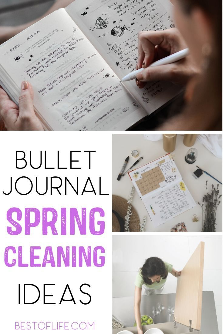 Bullet journal spring cleaning ideas will double as tips for spring cleaning that keep your home and office organized. Bullet Journal Ideas Spring Cleaning | Spring Cleaning List Bullet Journal | Spring Cleaning Bullet Journal Layout | Bullet Journal Spreads | Tips for Bullet Journals | Bullet Journal Supplies #bulletjournal #organization via @thebestoflife
