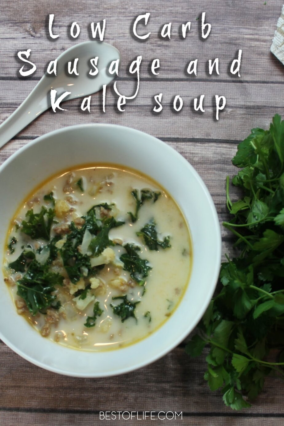 This Instant Pot creamy sausage and kale soup is perfect for family meals and you can easily scale the recipe for a delicious party food. Low Carb Recipes | Healthy Instant Pot Soup Recipes | Recipes with Kale | Instant Pot Dinner Recipes | Easy Instant Pot Recipes | Soup Dinner Recipes #Instant Pot #soup