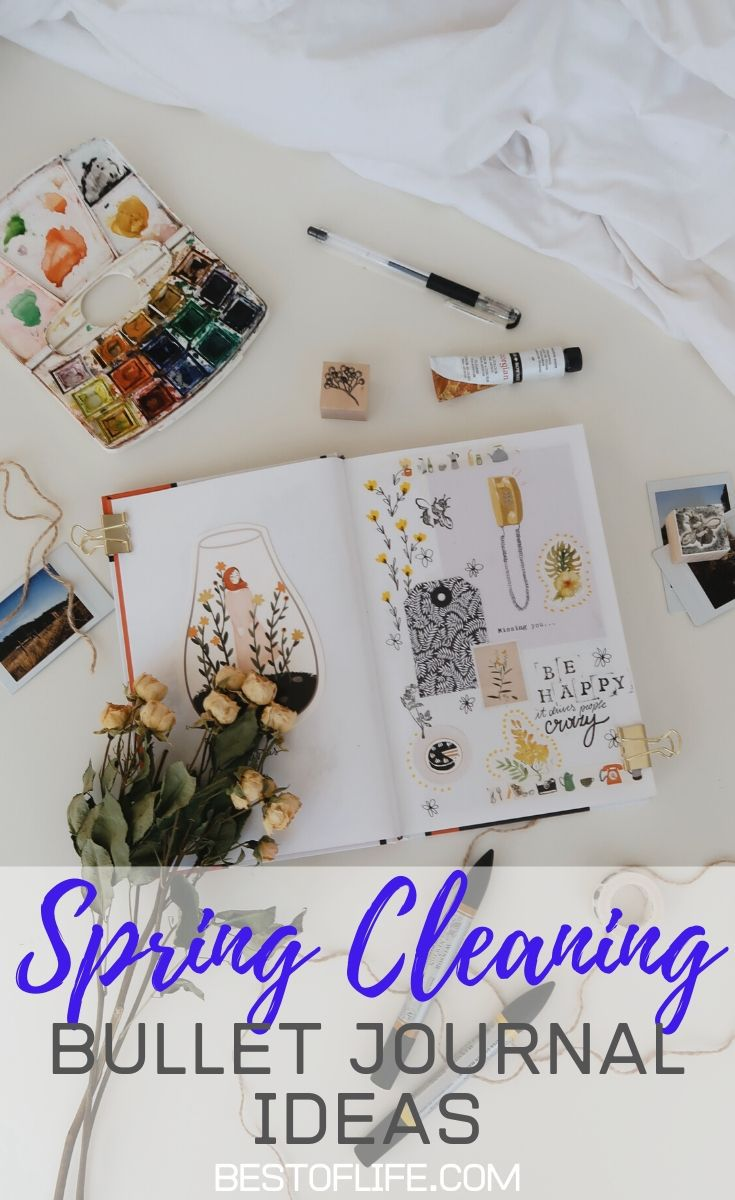 Bullet journal spring cleaning ideas will double as tips for spring cleaning that keep your home and office organized. Bullet Journal Ideas Spring Cleaning | Spring Cleaning List Bullet Journal | Spring Cleaning Bullet Journal Layout | Bullet Journal Spreads | Tips for Bullet Journals | Bullet Journal Supplies #bulletjournal #organization