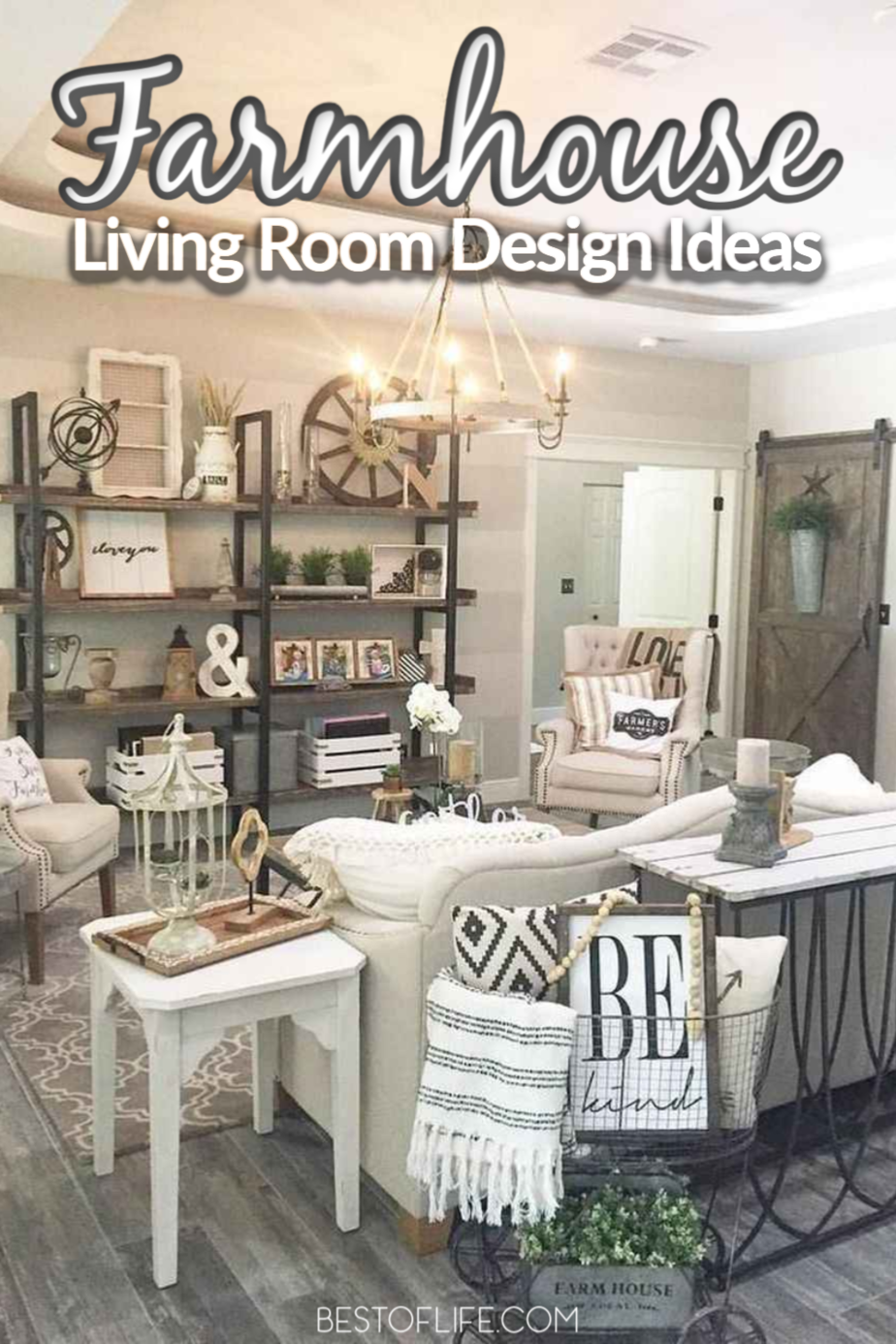 Faux farmhouse living room designs are not only chic living room designs, but they're also easy DIY home designs for a modern look. Home Décor Ideas   DIY Home Designs   Farmhouse Décor Ideas   Farmhouse Designs   Farmhouse Home Décor   DIY Home Décor #decor #home via @thebestoflife