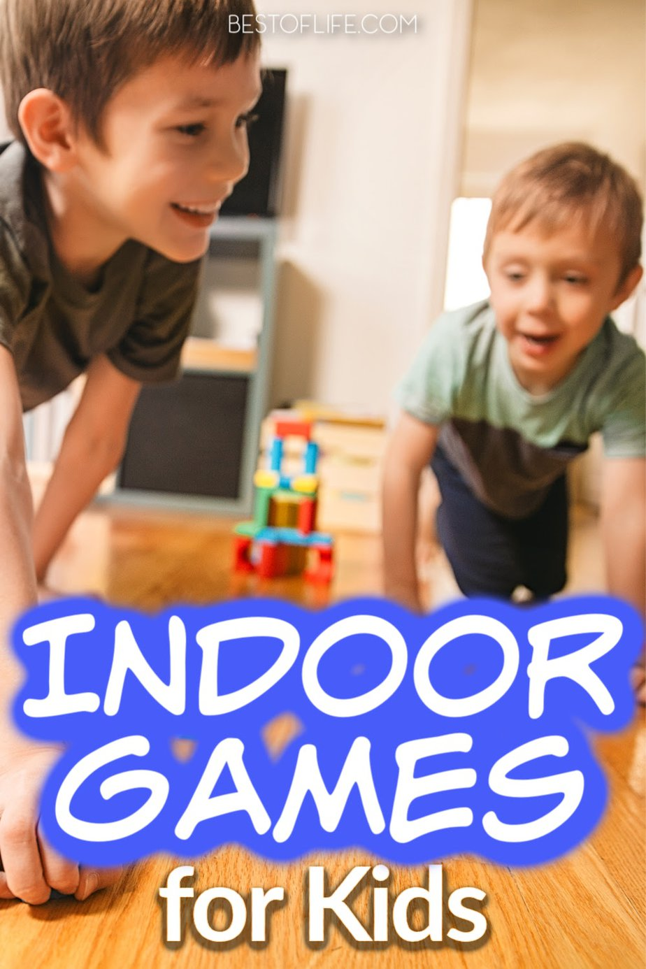 There are fun indoor games for kids that parents can use to help keep kids entertained inside when there is no other option. Parenting Tips | Things to do with Kids | Indoor Games for Toddlers | At Home Activities for Kids | DIY Things to do for Kids #parenting #kids
