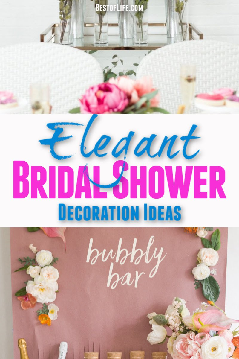 These elegant bridal shower decorations will help you with everything you need to throw a bridal shower that everyone will remember. DIY Wedding Decorations | DIY Elegant Décor | DIY Décor Bridal Shower Ideas | Affordable Bridal Showers | Party Planning | Bridal Shower Planning Tips #wedding #bridalshowers #Partyplanning via @thebestoflife