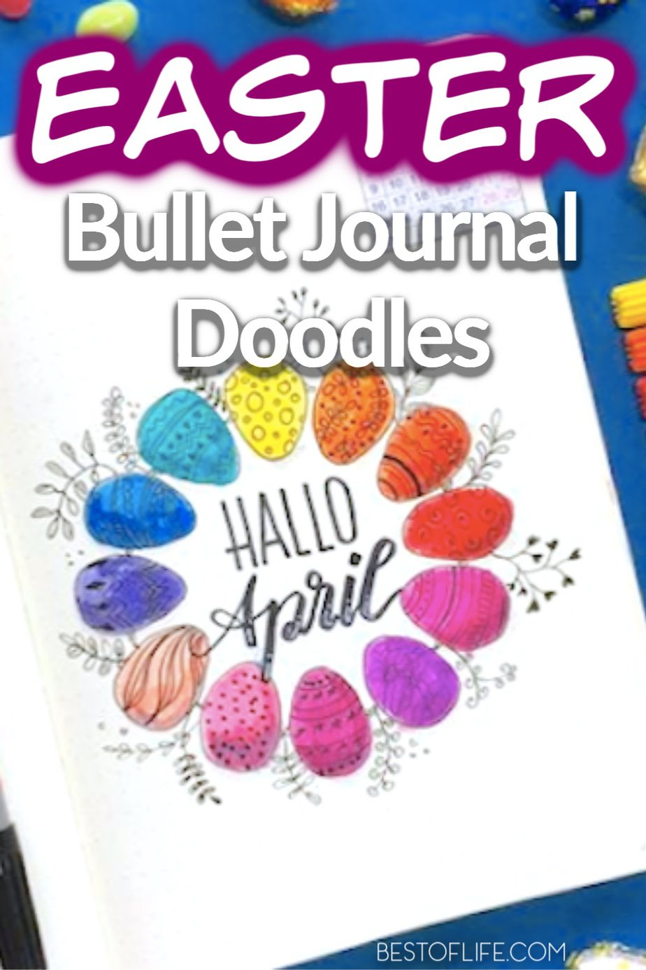 Bullet journal Easter doodles can help you get in the holiday spirit and are creative DIY ways to personalize your journal layouts. Easter Bullet Journal Cover | Easter Bullet Journal Themes | Bullet Journal Spread Ideas | Mood Tracker Bullet Journal | Bullet Journal Layouts | Organization for Easter | Spring Bullet Journals #easter #bujo