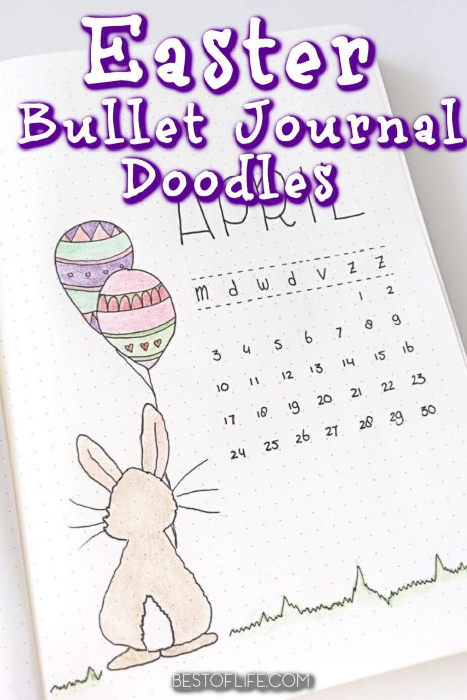 Bullet journal Easter doodles can help you get in the holiday spirit and are creative DIY ways to personalize your journal layouts. Easter Bullet Journal Cover | Easter Bullet Journal Themes | Bullet Journal Spread Ideas | Mood Tracker Bullet Journal | Bullet Journal Layouts | Organization for Easter | Spring Bullet Journals #easter #bujo via @thebestoflife