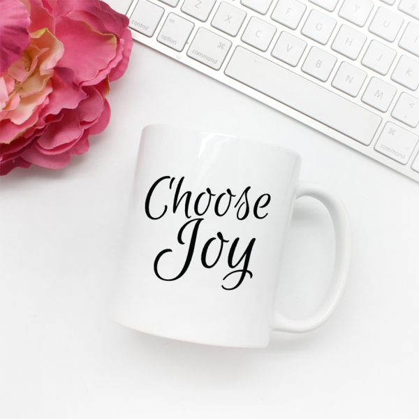 Choose Joy Script Mug