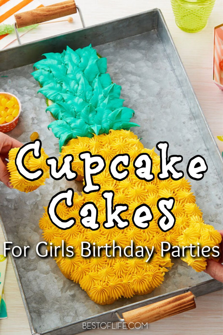These are some of the best pull-apart cupcake cake ideas for a girl's birthday party that are not only easy party recipes but impressive as well. Birthday Cake Ideas for Girls | Teen Birthday Party Ideas | Party Food Ideas | Cupcake Cakes | Cupcake Cake Decorating | Cake Recipes for Girls | Birthday Cake for Girls Kids | Recipes for Birthday Parties #cupcakecake #birthday