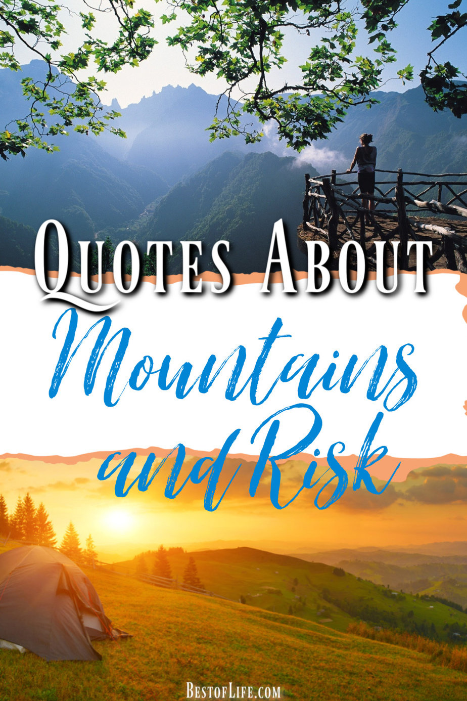 We all have figurative mountains to climb and we could use inspirational quotes about mountains to help us gain the strength to take the risk. Quotes to Inspire | Quotes About Risk and Love | No Regrets Quotes Inspirational | Risk Taking Comfort Zone Quotes | Taking Risks with Love Quotes #quotes #inspirational via @thebestoflife
