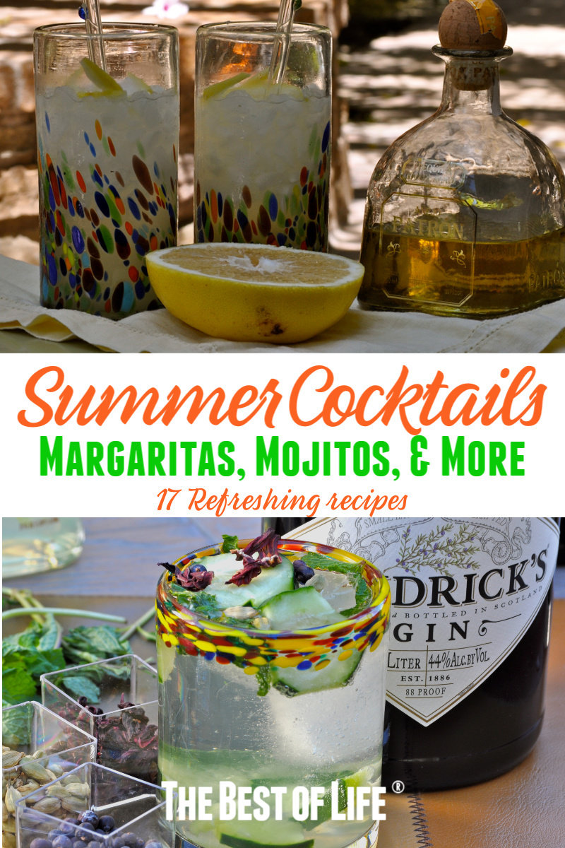 Enjoy these easy refreshing summer cocktail recipes during happy hour and summer BBQ parties! These drink recipes can be enjoyed all year long! Cheers! Low Carb Cocktails | Summer Cocktails | Margarita Recipes | Easy Drink Recipes | Party Recipes | Party Food Ideas via @thebestoflife