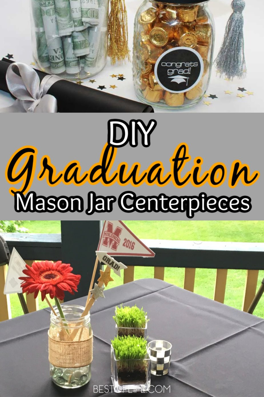 Graduation Mason Jar Centerpieces For Girls The Best Of Life