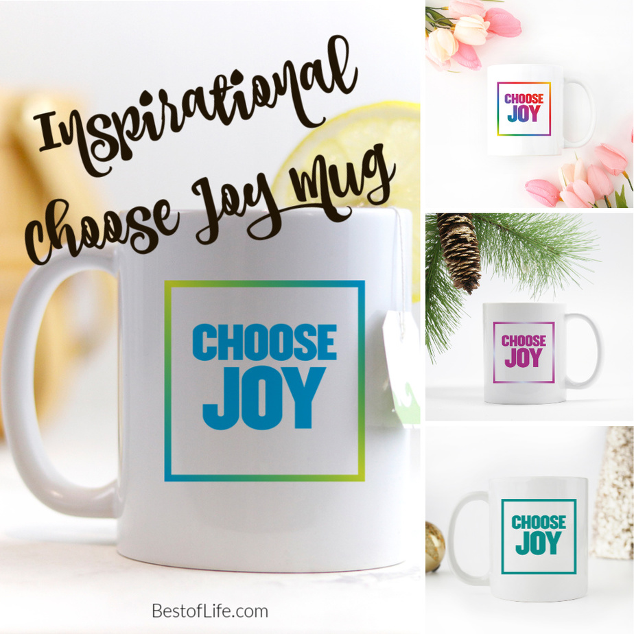 This Choose Joy Block Font coffee mug makes a wonderful gift for that special friend in your life. Whether male or female, we can all use extra happiness. Gifts for Mom | Gifts for Dad | Quote Mugs | Quote Cups | Inspirational Quotes | Quotes about Happiness | Quotes for Work | Quotes for Life via @thebestoflife