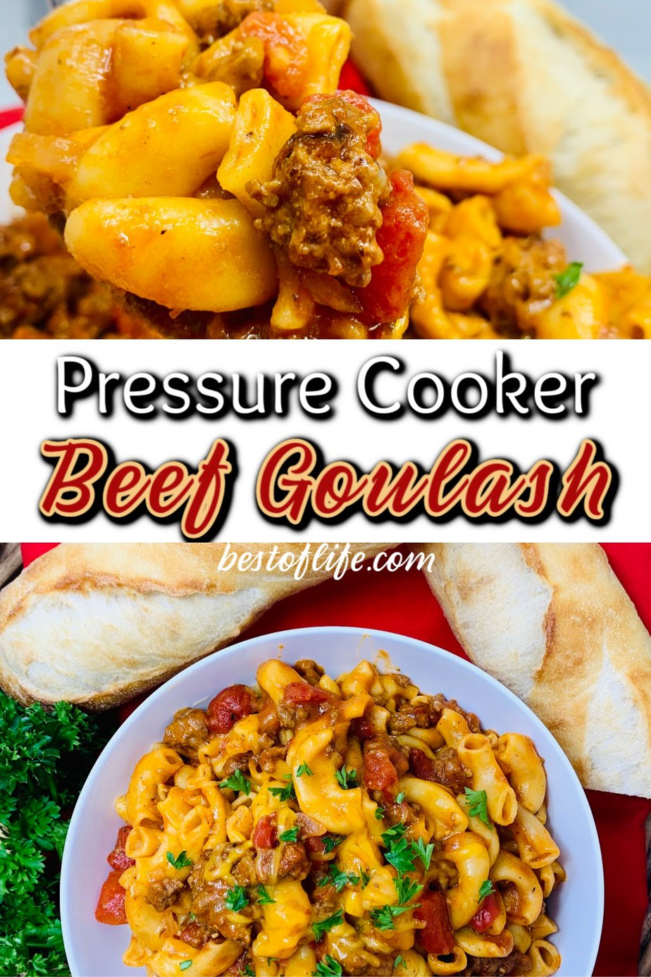 Making a pressure cooker beef goulash recipe is an easy way to enjoy a family dinner that is full of flavor and requires minimal meal prep time. Instant Pot Beef Recipe | Instant Pot Hamburger Meat Recipes | Pressure Cooker Recipes with Beef | Instant Pot Goulash Recipe | Easy Family Dinner Recipes | Instant Pot Dinner Recipes #instantpot #beef via @thebestoflife