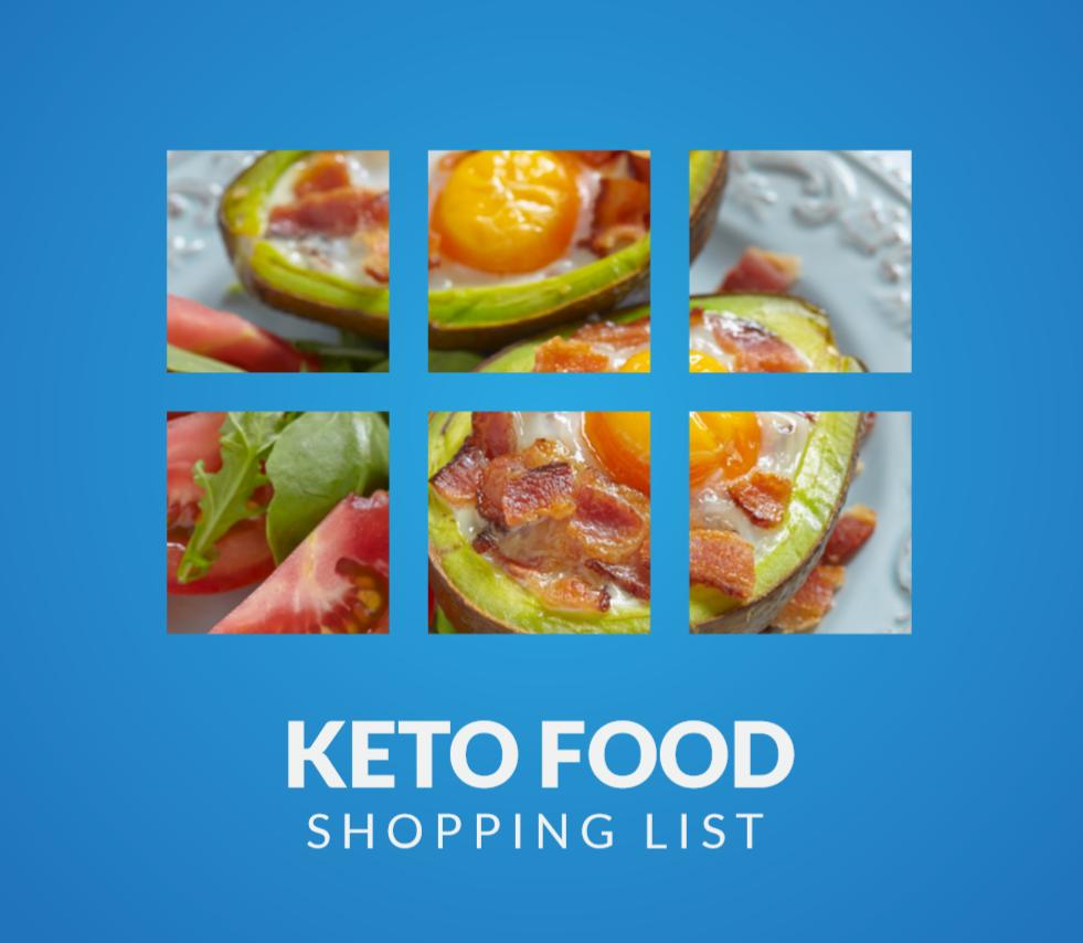 Keto Food Shopping List ebook save to phone