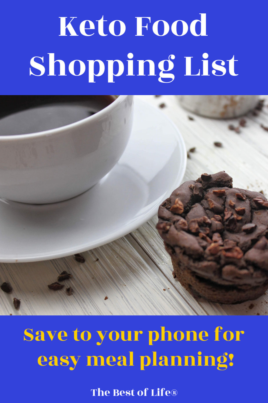 Keep this keto food shopping list on hand to make meal planning and grocery shopping easier so you stay on track with your ketogenic or low carb diet. Keto Diet Tips | Low Carb Diet Tips | Ketogenic Food List | What Can you Eat on a Keto Diet | Weight Loss Tips via @thebestoflife