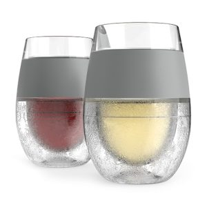 Cooling wine glasses like the Wine Freeze Cooling cups by HOST are a great way to keep your wine the perfect temperature as you enjoy every sip.
