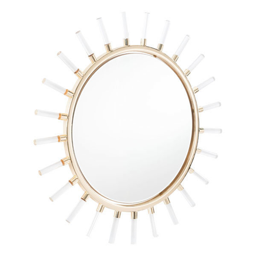 A mirror is a great way to add the illusion of more room to a tiny space and this sunlight mirror adds class to that space in a unique and beautiful way. Metal Sunburst Mirror | Sunburst Wall Decor | Classy Wall Decor | Classy Wall Mirror | White Sunburst Mirror | Sunburst Mirror Frame | Luxury Home Decor | Wall Mirror for Small Room #sunburst #walldecor via @thebestoflife