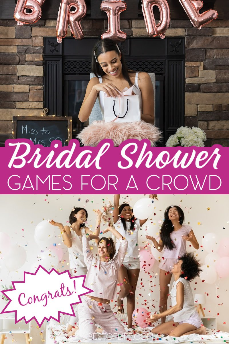 While the bridal shower celebrates you, make your bridal show fun for everyone with entertaining bridal shower games for large groups. Funny Bridal Shower Games | Unique Games for Bridal Showers | Bridal Shower Tips | Tips for Hosting a Bridal Shower | Free Printable Bridal Shower Games | Games for a Crowd | Games for Bridal Shower Crowds #bridalshower #games via @thebestoflife