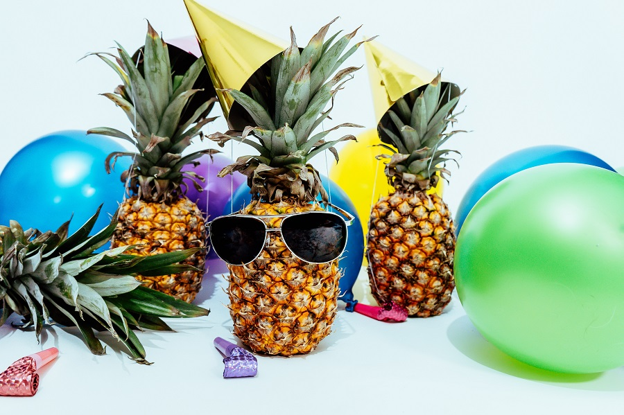 Printable Party Planning Checklist Three Pineapples Surrounded by Party Supplies