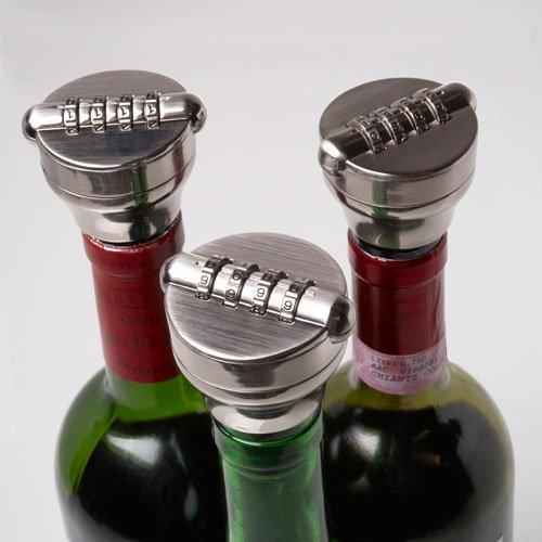 LIquor bottle lock on wine bottles