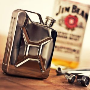 A Jerry can stainless steel hip flask is a unique gift for that amazing guy in your life that enjoys their liquor on the go. Stainless Steel Jerry Can Water |Father's Day Gifts | Whiskey Gifts | Travel Accessories | Concert Accessories | Military Jerry Can Flask | Stainless Steel Flask | Gifts for Him | Flasks for Him | Military Gifts #flasks #whiskey