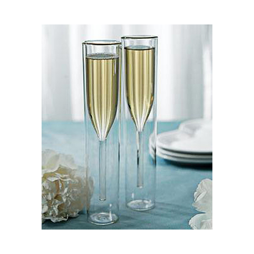 Your new inside out champagne glass flute set will help you enjoy champagne while keeping your champagne the perfect temperature.