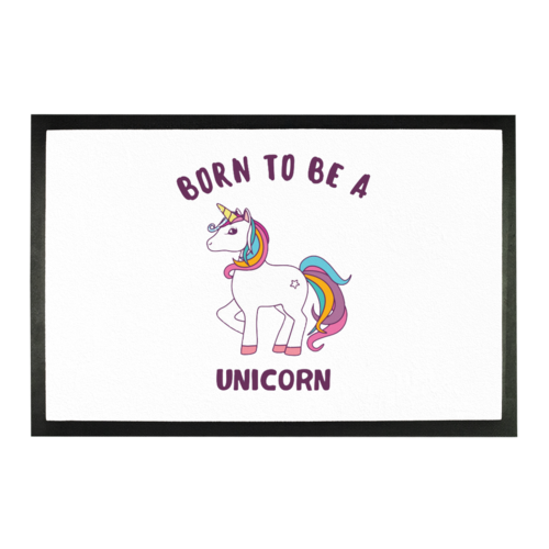 Show off just how special and unique you are with this fun born to be a unicorn doormat! This way everyone knows exactly how important you are. Home Decor Store | Home Decor Ideas | Home Decor Website | Home Decor Online | Tips for Porch Decorations | Outdoor Decor Pieces | Unicorn Themed Decor | Unicorn Doormat #unicorn #decor