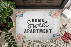 An apartment is a home and we all know that home sweet home is a meaningful statement but what about home sweet apartment? Home Sweet Home Doormat | Apartment Doormats | Door Mats for Apartments | Welcome Home Mats for Apartments | Apartment Decor | Decorations for Apartments | Adorable Doormats | Cute Doormats #aprtment #decorations