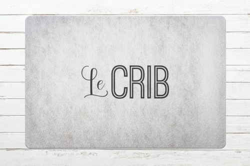 """Le crib doormat is a fancier way of saying """"home"""". It's like you got a Tarjay doormat instead of a Target doormat and people will notice the difference. Fancy Doormats 