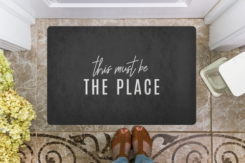 You've got plenty of visitors but they don't always know that they are in the right place. This doormat says it all - this must be the right place. Funny Door Mats Online | House Warming Gifts | Funny Doormats | Funny Home Decorations | Porch Decor #homedecor #quotes