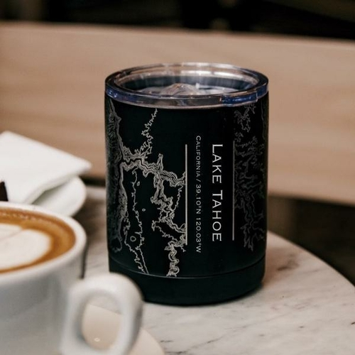Lake Tahoe California Insulated Cup on Table