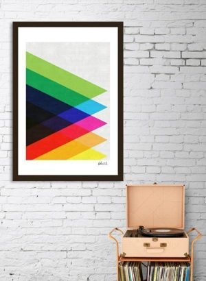 Add a touch of retro style with this colorful triangles framed art print that fits into just about any type of home or apartment decor. Cheap Abstract Wall Art | Affordable Wall Art Prints | Geometric Wall Art | Colorful Abstract Wall Art | Wall Art with Shapes | Home Decor Tips | Dorm Decorating Tips | Teen Bedroom Decor #abstract #artprint