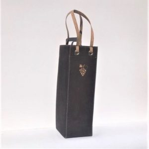 chocolate cork wine carrier bag