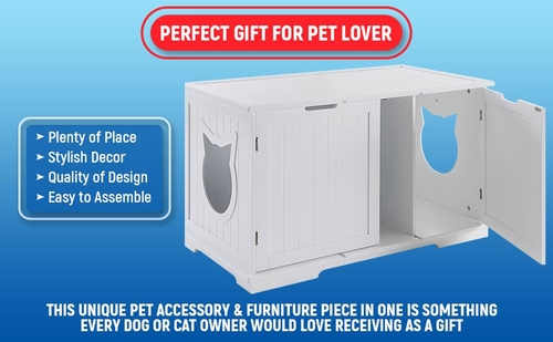 Cat litter box furniture is the best way to disguise your cat's litter box, hide the smell, and give your pet some privacy. Cat Furniture | Cat Bathroom | Modern Cat Accessories | Luxury Cat Furniture | Extra Large Cat Furniture Litter Box | Cat Condo | Cat Shelves | Nightstand for Cats | Bench for Litter Box #catowners #homedecor