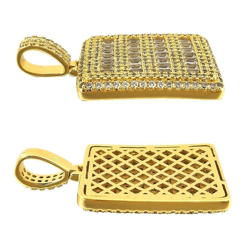 It is now easier than ever to give your dog a little bling with this micro pave baguette dog tag that looks like the real thing. Diamond Shaped Dog Tags for Pets | Classy Dog Tags for Pets | Luxurious Pet Accessories | Diamond Dog Collar | Dog Collar Charm #pets #classy