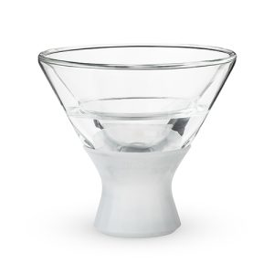 The FREEZE martini glass will keep your martinis cold all year long, regardless of whether you enjoy them shaken or stirred. Unique Martini Glasses | Barware | Cocktails | Drink Recipes | Cocktail Glasses #martini #cocktails