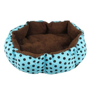 A polka dot dog bed is the perfect way to add some color to any room in your house while also being a functional and comfortable bed for your pet. Small Dog Beds | Washable Dog Beds | Elevated Dog Beds | Cute Dog Beds | Fleece Bed for Pets #dogbed #petsupplies