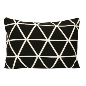 Throw pillows have multiple uses but this black and white throw pillow also adds style and art to any room while also being a functional pillow. Bedding Accessories | Bedding Ideas | Couch Design Ideas | Throw Pillows for Bed | Cheap Pillows | Designer Pillows #pillows #bedding
