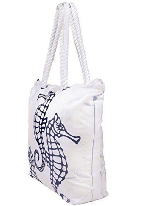 Your handbag should fit your style and the activities you plan to do like a beach canvas handbag for the beach and a ocean theme for summer. Beach Bags | Summer Style Ideas | Summer Tote Bags | Canvas Tote Bags | Oversized Beach Tote Bags | Ocean Themed Bag #handbags #beachday