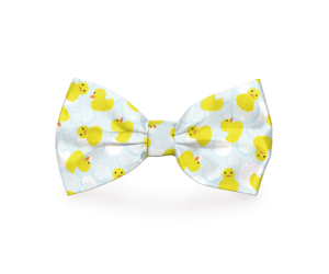 A rubber duckies dog bow tie makes a great fashion statement during the summer, at the beach, pool, or anywhere else around town. Bow Tie with Ducks | Bow Ties for Dogs | Bow Ties for Pets | Rubber Ducky Bow Tie | Pet Accessories for Summer | Colorful Pet Accessories #dogs #rubberducky