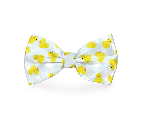 A rubber duckies dog bow tie makes a great fashion statement during the summer, at the beach, pool, or anywhere else around town. Bow Tie with Ducks   Bow Ties for Dogs   Bow Ties for Pets   Rubber Ducky Bow Tie   Pet Accessories for Summer   Colorful Pet Accessories #dogs #rubberducky