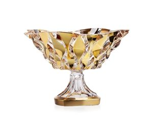 Add a touch of luxury to your home with this beautiful decorative crystal glass bowl! It's perfect for candy, collector items, and displaying your favorite small items. Cut Glass Bowl | Cut Glass Crystal Fruit Bowl | Home Décor Ideas | Crystal Bowl for Keys | Glass Bowl for Décor #decor #homeware