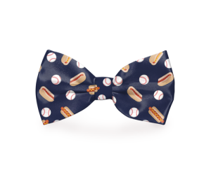 Your dog will look more stylish than any other dogs at the ballpark with a baseball-themed navy blue dog bow tie attached to its collar. Baseball Bow Ties for Dogs | Baseball Fashion for Dogs | Ballgame Style for Dogs | Dog Accessories #dogs #petowners
