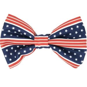 Add this all American dog bowtie to your pet's wardrobe so that they can show how happy they are to be American just like you. American Flag Bowtie | Patriotic Dog Bow Tie | Flag Bow Tie for Dogs | Fourth of July Bow Tie for Dogs | Dog Bow Tie Ideas | Patriotic Pet Clothes #dogtie #pets