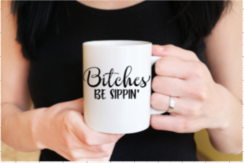 Humor comes in many different forms and this Bitches be Sippin' mug showcases your sense of humor perfectly. Get a few of these mugs for your best girlfriends so you can sip together! Coffee Mug Gifts | Bitchin Quotes | Hilarious Quotes | Funny Quotes | White Elephant Ideas #gifts #mugs