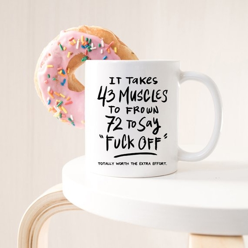 You might be feeling sassy and this turn that frown upside down mug helps you and anyone that sees it enjoy your spunky side. Sarcastic Mug Quotes | Mugs with Sarcasm | Sarcastic Quotes | Funny Quotes | Funny Mug Sayings | Gift Ideas for Coworkers | Coffee Mug Gift Ideas #giftguide #coffeemug