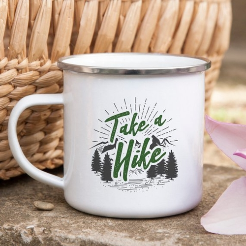 This mug shows your love of hiking and can also be an expression of humor subtly telling someone TO take a hike! Either way, it's a must have mug! Hiking Trails | All About Hiking | Types of Hiking | Hiking Mountain | Benefits of Hiking | Hiking Mug | Hiking Quotes #hike #coffee